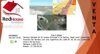 01223 Se Vende Terreno en Nuevo Altata