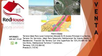 01224 Se Vende Terreno en Nuevo Altata